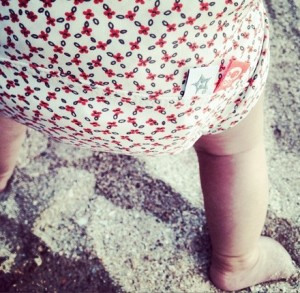 At the Beach with Hamac Baby Swimsuits!