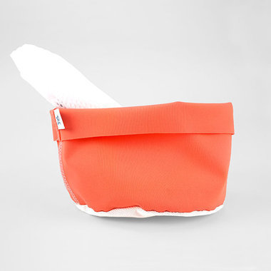 Little pouch and net for cleansing pads - Papaya