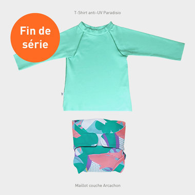 Paradisio Shirt and printed Swimsuit Set