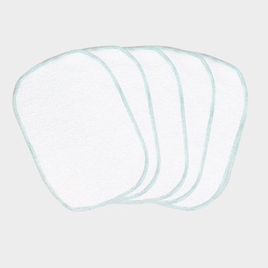 5 Reusable wipes - blue seam