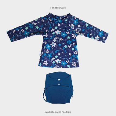Hawaiki Shirt and Nautilus Swimsuit Set