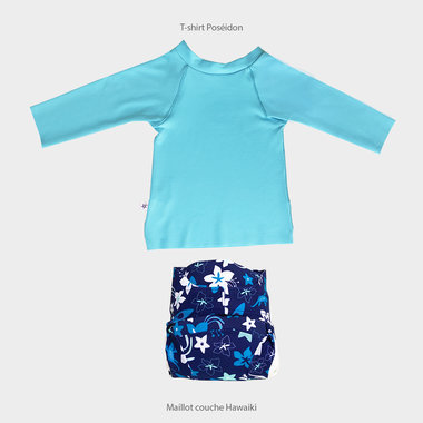 Poseidon Shirt and Hawaiki Swimsuit Set