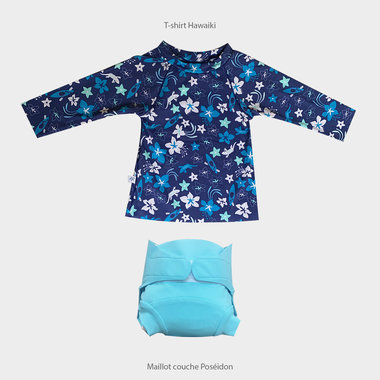 Hawaiki Shirt and Poseidon Swimsuit Set